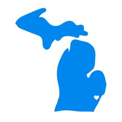 Michigan City Love Vinyl Decal Blue