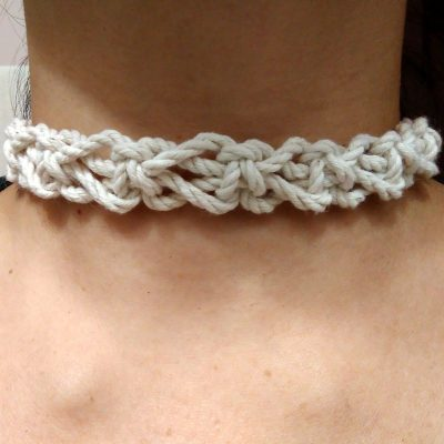 Switch Knot Macrame Choker Necklace