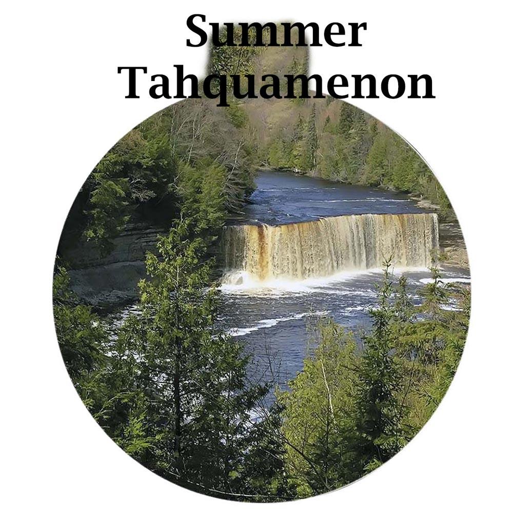Metal Photo Ornament Summer Tahquamenon Falls