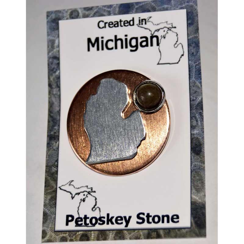 Petoskey Stone Lower Michigan Tie Tac