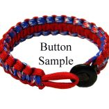 Paracord Bracelet with Military Button