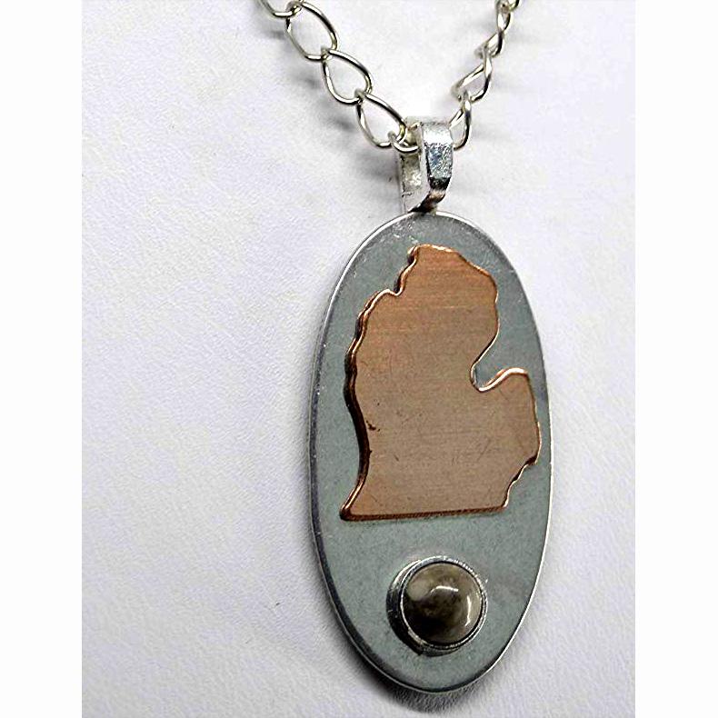 Petoskey Stone Lower Michigan Necklace