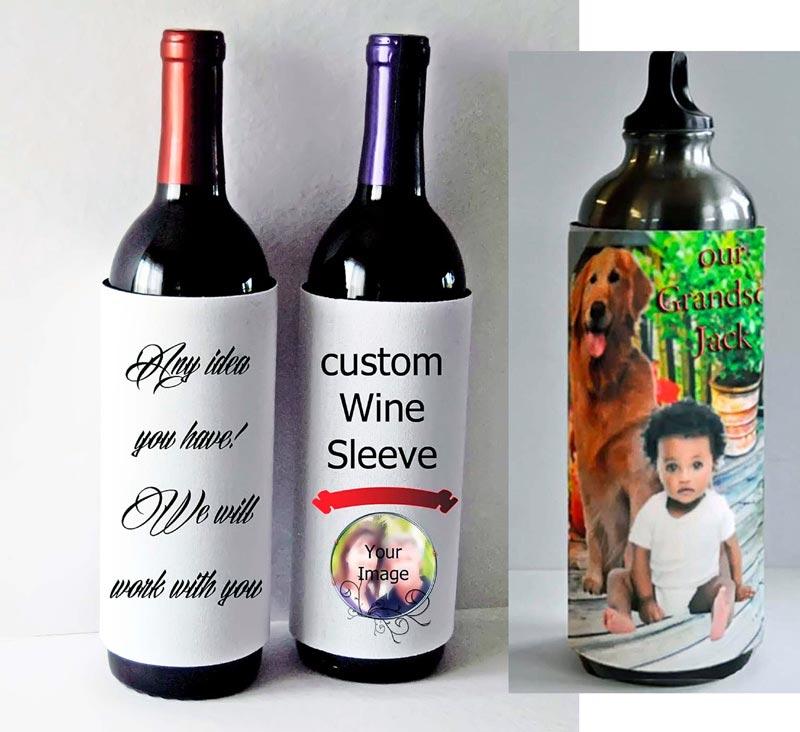 Photo Bottle Koozie Sleeve