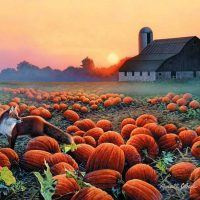 Autumn Splendor Giclee Print on Wrapped Canvas by Artist Russell Cobane
