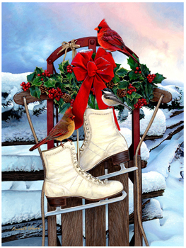 Christmas Memories Giclee Print on Wrapped Canvas by Artist Russell Cobane