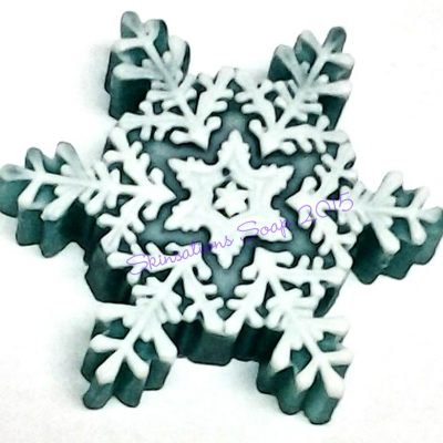 Decorative Glycerin Snowflake Soap