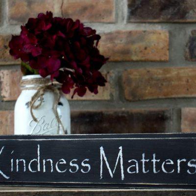 Black Kindness Matters Sign