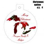 Option GL4 Michigan Great Lakes Ornaments