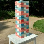 Red White Blue Giant Jenga Game