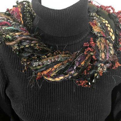 Ribbon Yarn Multi Colors Scarf