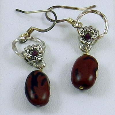 Hopi Purple String Bean Earrings