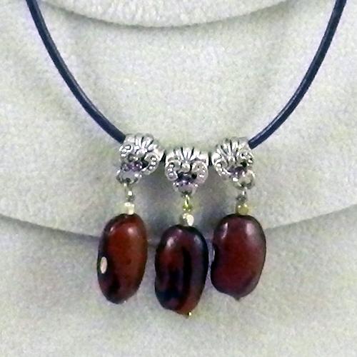 Hopi Purple String Bean Necklace