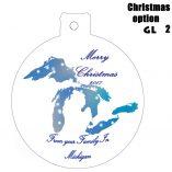 Option GL2 Michigan Great Lakes Ornaments