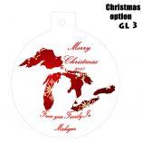 Option GL3 Michigan Great Lakes Ornaments