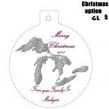 Option GL5 Michigan Great Lakes Ornaments