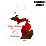 Option 1 Michigan Ornament