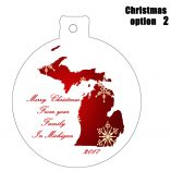 Option 2 Michigan Ornament