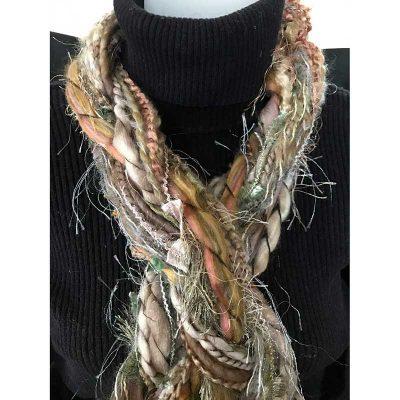 33 Natural Braided Scarf Ribbon Yarn Braided Scarves