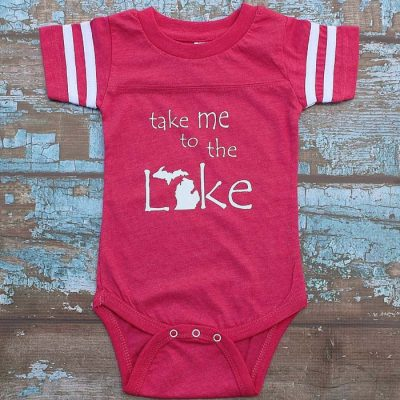 Take Me To The Lake Football Onesie