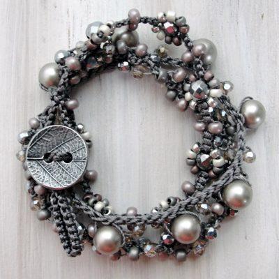 Graphite Wrap Bracelet