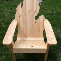 Michigan Classic State Back Adirondack Chair