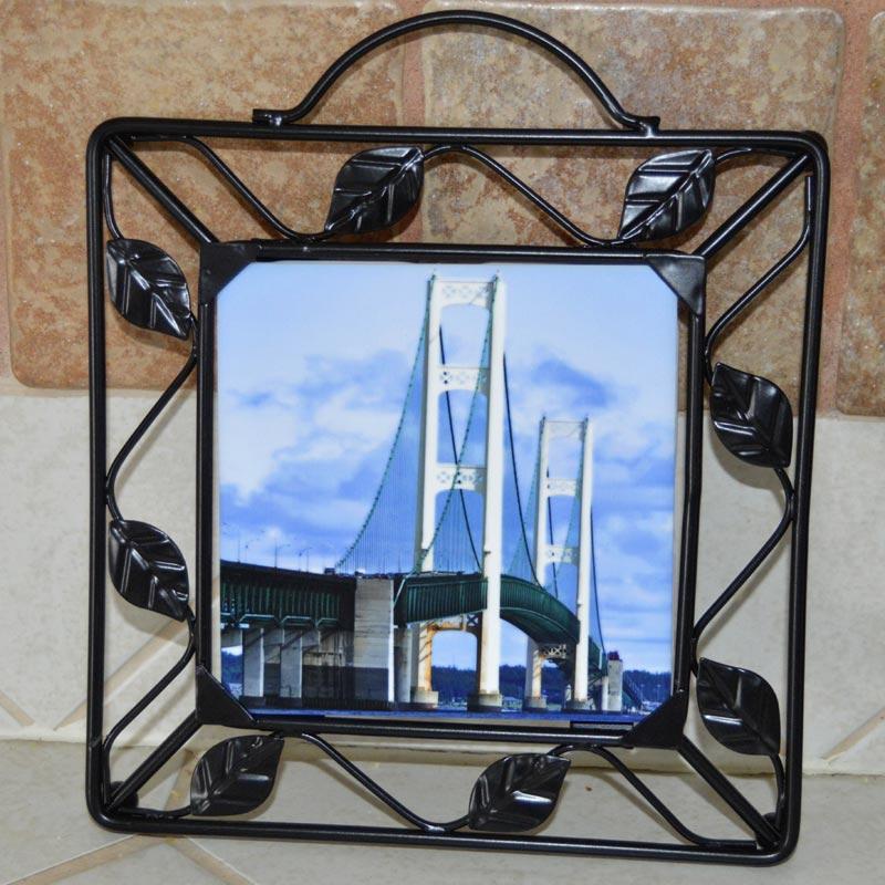 Metal Framed Photo Trivet