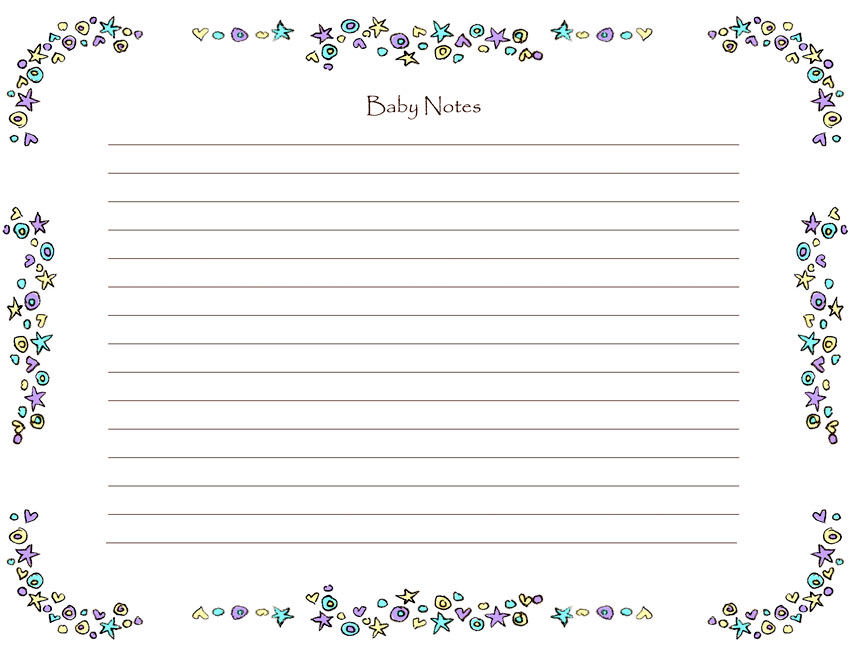 Baby Notes Page