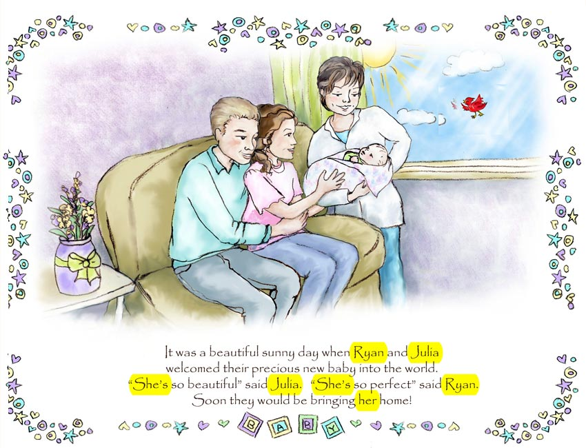 Personalized Caucasian Adoption Family Book