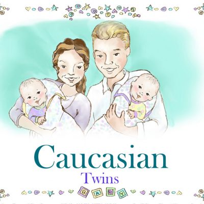 Caucasian Twins Family Book