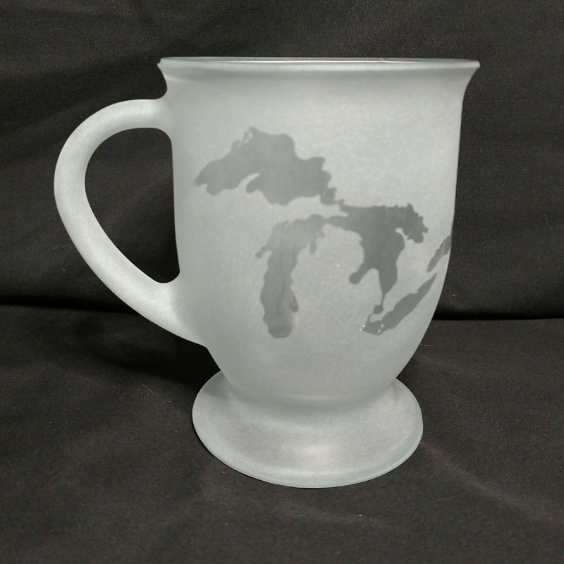 Engraved Coffee Mug Michigan Great Lakes