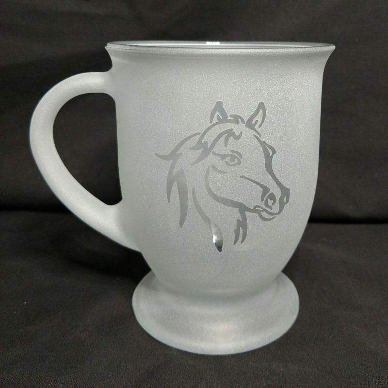 Engraved Coffee Mug Horse Head