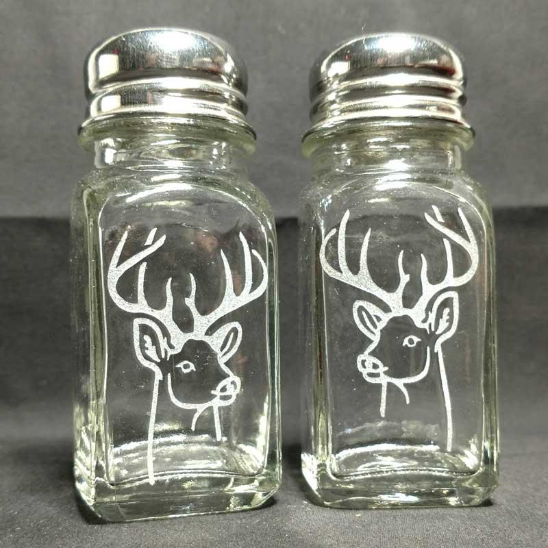 Engraved Salt Pepper Shakers