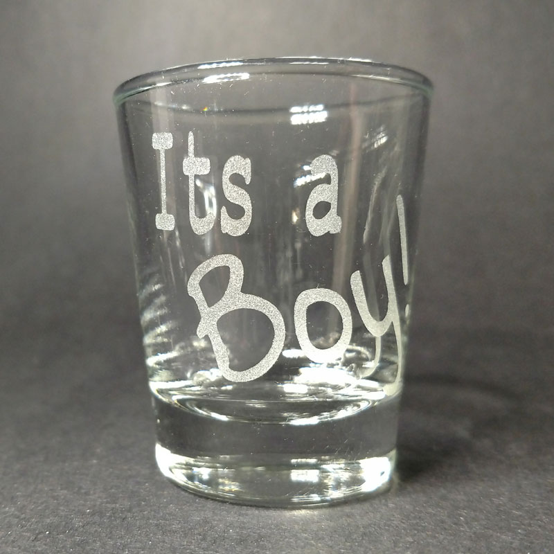 Engraved Shot Glass It's a Boy