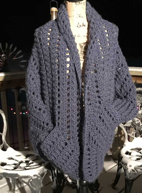 Crochet Granny Sweater Grey