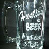 Engraved Large Beer Mug Hunting & Beer