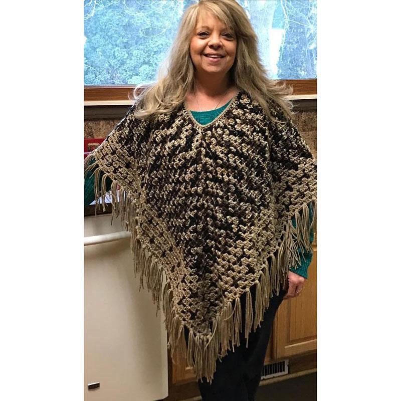 Crochet Fringed Poncho