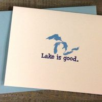 Great Lakes Lake Is Good Notecards