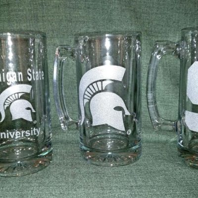 Engraved MSU Sparty Beer Mug