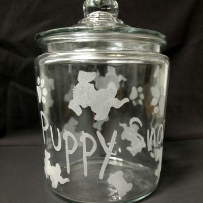 Engraved Personalized Dog Treat Jar