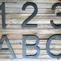 Metal Block Letters Numbers