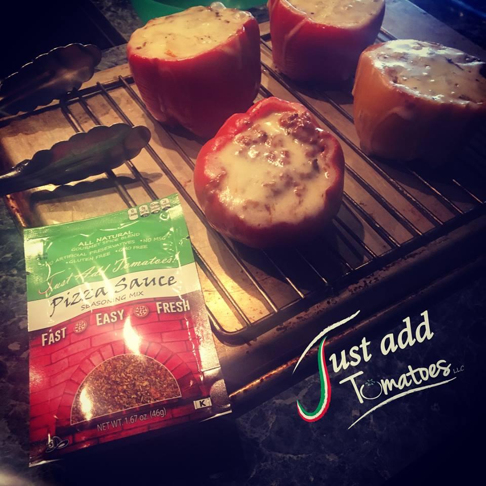 Just Add Tomatoes Pizza Sauce Seasoning Mix Stuffed Peppers