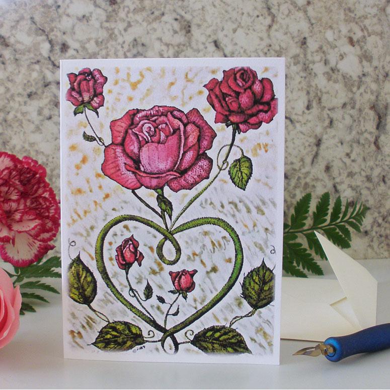 Love Rose Greeting Card