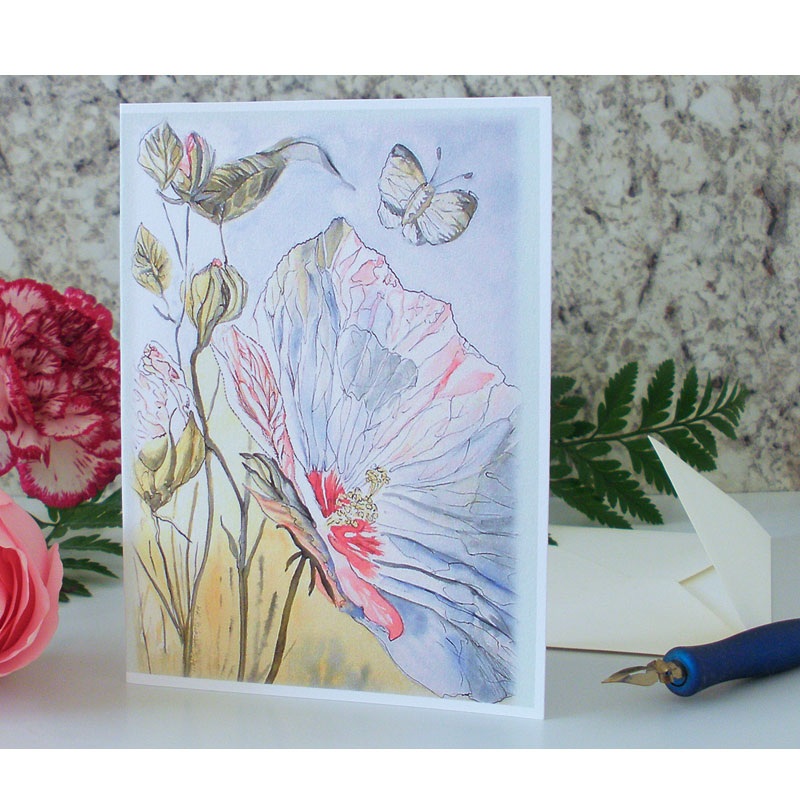 Summer Hibiscus Greeting Card