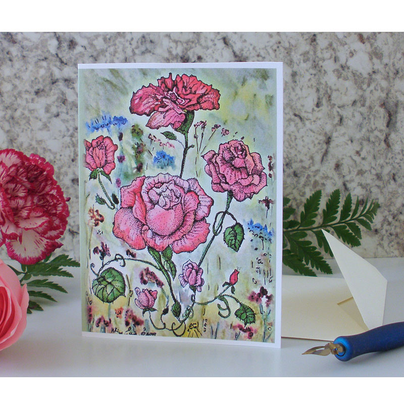 Victorian Rose Greeting Card