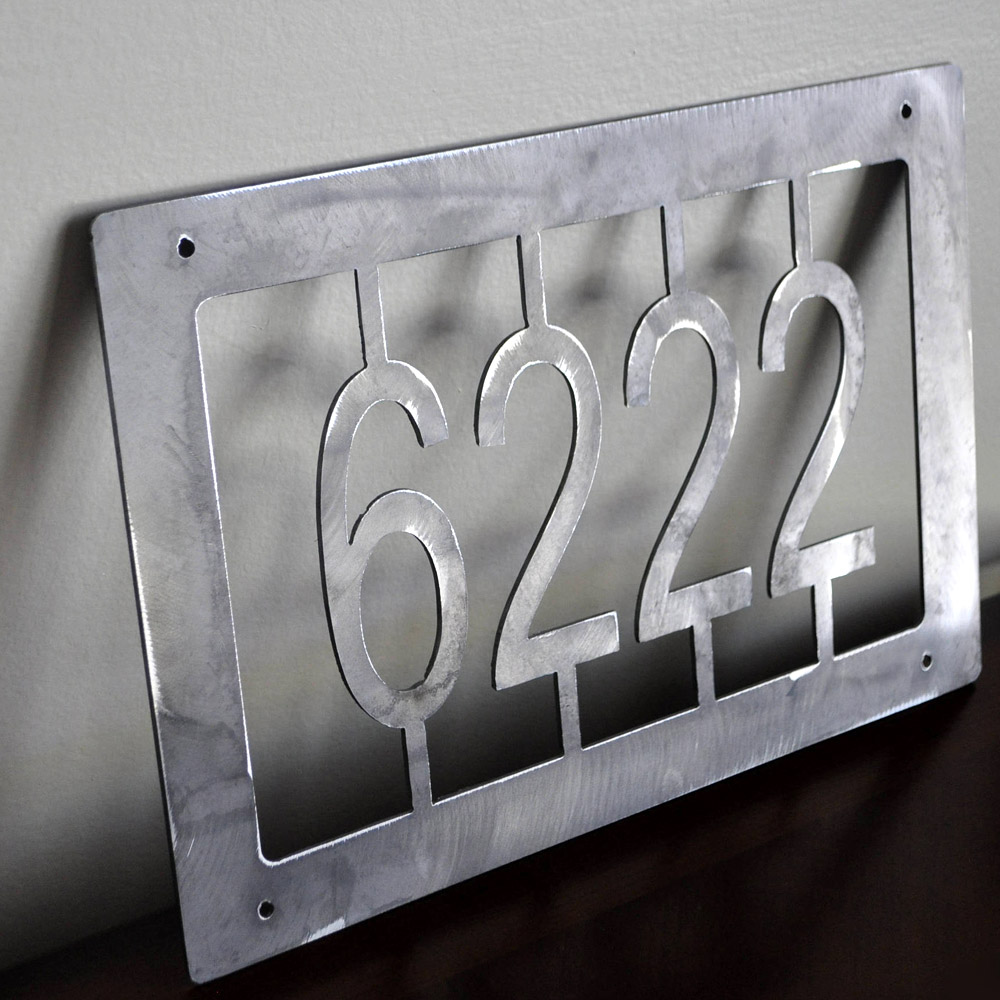 Custom House Address Plate