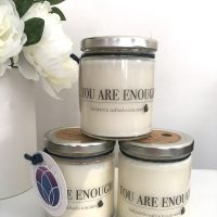 You Are Enough All Natural Soy Beeswax Candle