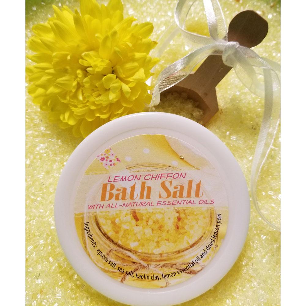 Lemon Chiffon Bath Salts All Natural