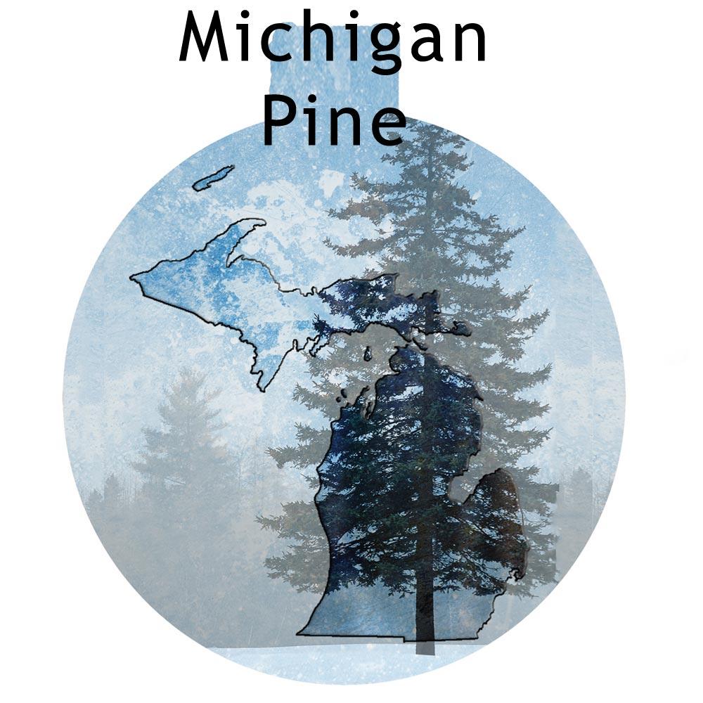 Metal Michigan Ornament - Michigan Pine Tree
