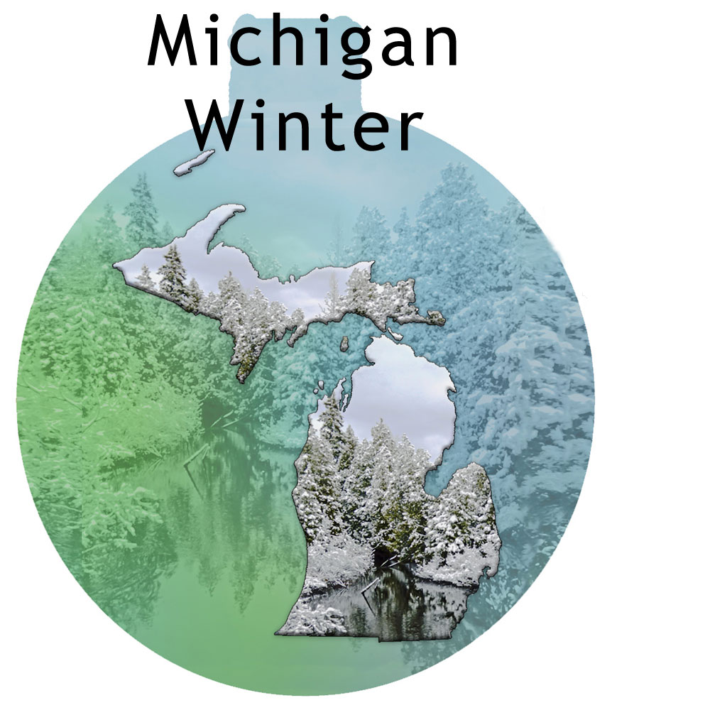 Metal Michigan Ornament - Michigan Winter