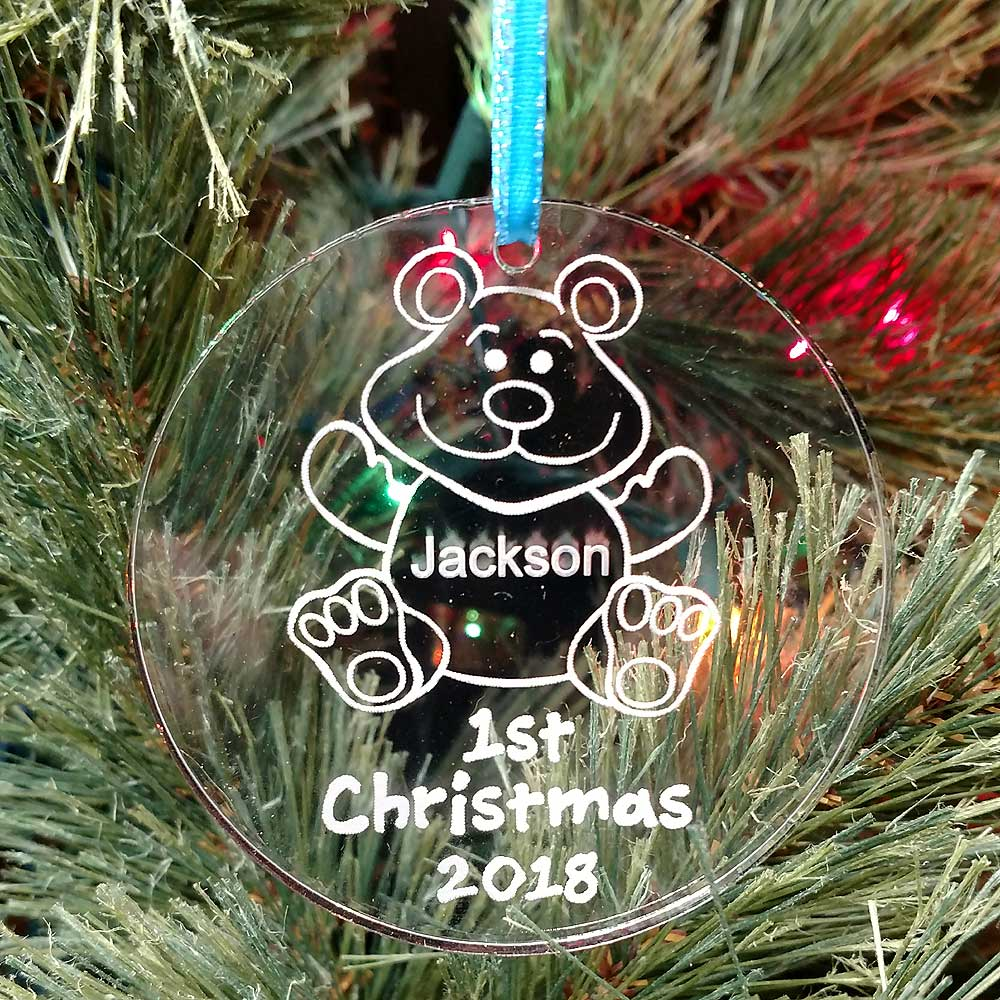 Personalized Teddy Bear Ornament